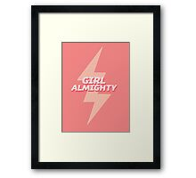 girl almighty - pink Framed Print