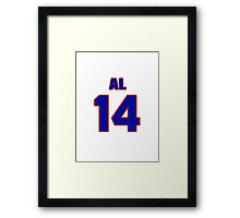National Hockey player Al McDonough jersey 14 Framed Print