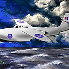 Saunders-Roe SR./A.1 jet powered flying boat 1947 by Dennis Melling