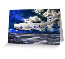 Saunders-Roe SR./A.1 jet powered flying boat Greeting Card