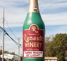 Gigantic Wine Bottle! by Richard Peevers