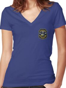 Haven Police Department Women's Fitted V-Neck T-Shirt