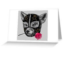 The Mask of el Zorro luchador Greeting Card