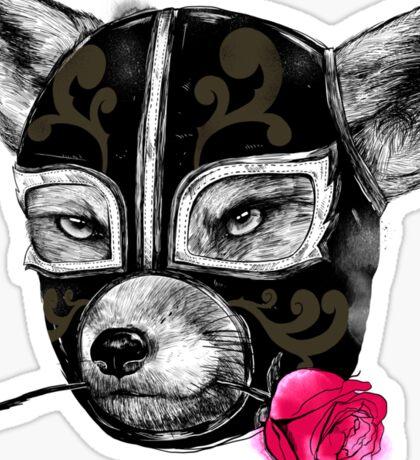 The Mask of el Zorro luchador Sticker