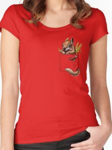 Pocket chipmunk Women's Fitted Scoop T-Shirt