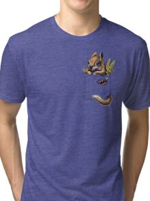 Pocket chipmunk Tri-blend T-Shirt