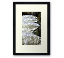 Water Through The Dam  Framed Print