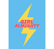 girl almighty - blue Photographic Print