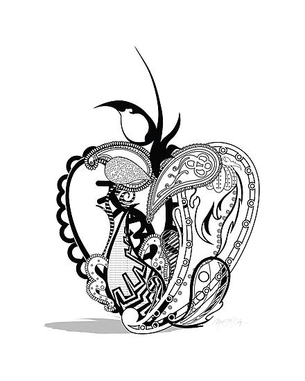 Paisley Apple by Urban Digitz