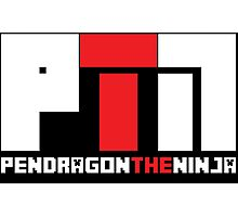 Pendragon The Ninja | Youtube Channel Logo Design Photographic Print
