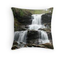Ricketts Glen Tuscarora Falls Throw Pillow