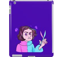 Angry Vampire Girl With Scissors iPad Case/Skin