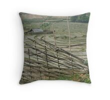 Bamboo and Rice Paddies Throw Pillow