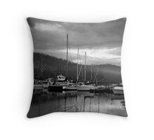 Port Huon in Tasmania Throw Pillow