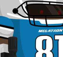 Calvin Megatron Johnson Sticker