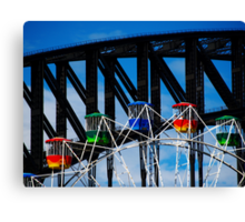 Ferris Wheel and the Bridge Canvas Print
