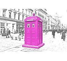 Pink Tardis  Photographic Print