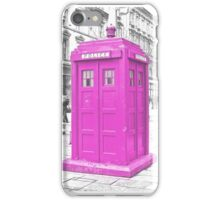 Pink Tardis  iPhone Case/Skin