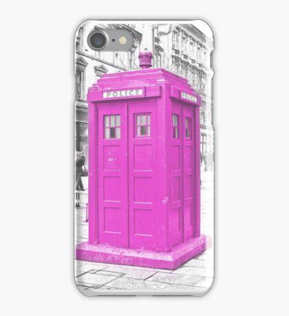 Pink Tardis  iPhone Case/Skin