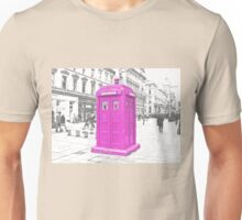 Pink Tardis  Unisex T-Shirt