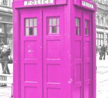 Pink Tardis  Sticker