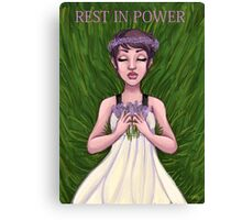 Leelah Alcorn: Rest In Power Canvas Print