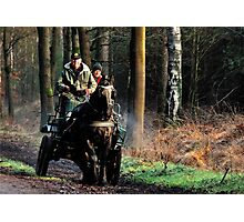 Riding out on a cold Sunday morning Photographic Print