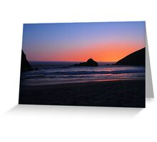 Big Sur sunset 1 Greeting Card