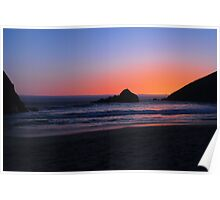 Big Sur sunset 1 Poster