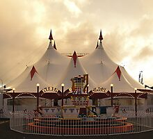Circus Tent at Sunset by TonySlattery