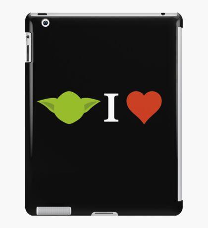 Yoda I Love (black) iPad Case/Skin