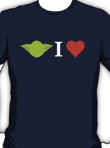 Yoda I Love (black) T-Shirt