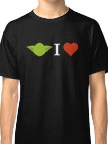 Yoda I Love (black) Classic T-Shirt