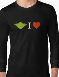Yoda I Love (black) Long Sleeve T-Shirt