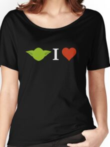 Yoda I Love (black) Women's Relaxed Fit T-Shirt