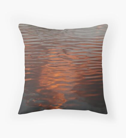 Red Reflections Throw Pillow