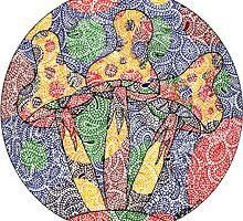 Mushroom Doodle 1 by Chris McKinney