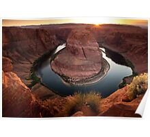 Horseshoe Bend Sunset Poster