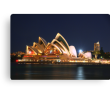 Music Of The Night - Moods of a City # 23 - The HDR Series, Sydney Australia Canvas Print