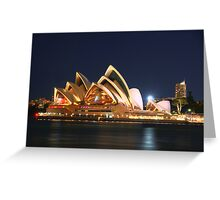 Music Of The Night - Moods of a City # 23 - The HDR Series, Sydney Australia Greeting Card