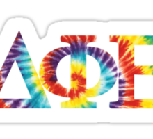 DPhiE Greek Tye-Dye Letters Sticker