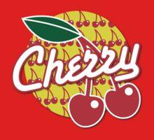 CHERRY with red cherries Kids Tee