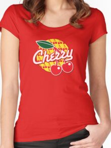CHERRY with red cherries Women's Fitted Scoop T-Shirt