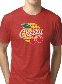 CHERRY with red cherries Tri-blend T-Shirt