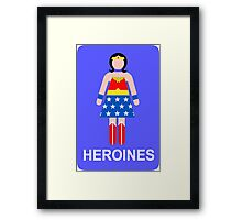 Wonder Woman/Heroines Framed Print