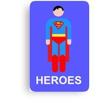 Superman/Heroes Canvas Print
