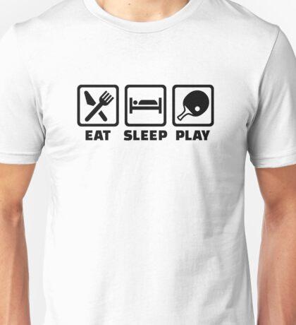 Eat Sleep Play Ping Pong Unisex T-Shirt
