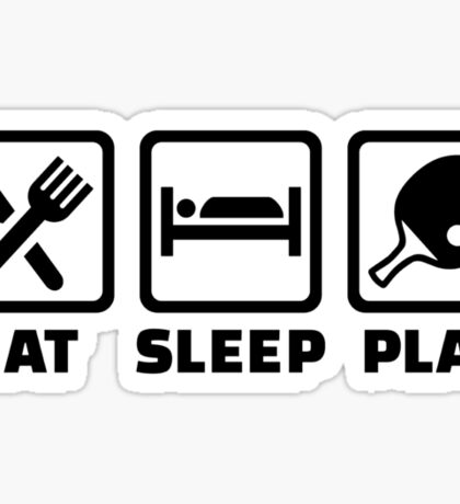 Eat Sleep Play Ping Pong Sticker