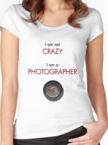 CRAZY PHOTOGRAPHER Women's Fitted Scoop T-Shirt