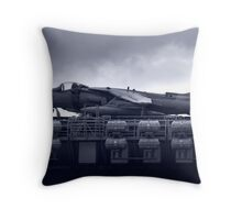 USS Boxers Harrier Jet Throw Pillow